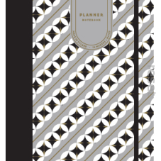 Paper Love GRASSE PLANNER geometric grey gold matt foil